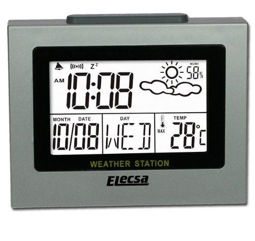 Elecsa GmbH Wetterstation Wecker Luftfeuchte Thermometer W6840
