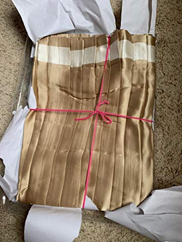 Save %83 Now! Ann Gish Knife Pleat 100% Silk Queen Bedskirt Sand Ivory