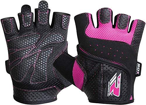 RDX Gym Damen Gewichtheben Fitness Handschuhe, Rosa, L