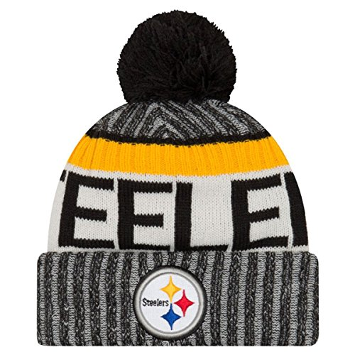 New Era NFL PITTSBURGH STEELERS Authentic 2017 Sideline Bobble Knit