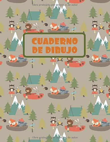 CUADERNO DE DIBUJO: BLOCK DE 100 PAGINAS EN BLANCO. LIBRETA ESPECIAL DIBUJO. FANTÁSTICO REGALO,  CREATIVO Y ORIGINAL PARA NIÑOS Y JÓVENES. LINDO ... BÚHOS, ZORROS Y MAPACHES....
