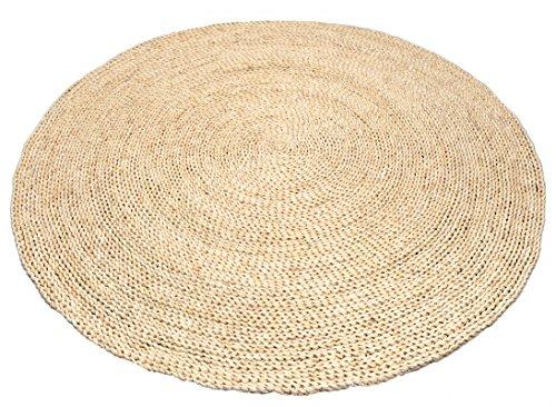 NaDeco Strohteppich schlicht 90 cm rund Maisstrohteppich Natur Stroh Teppich Maisstroh Teppich Reisstrohteppich Naturteppich