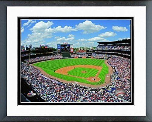 MLB Atlanta Braves Turner Field 2015 Stadium Photo Size 12 5 x 15 5 Framed product image