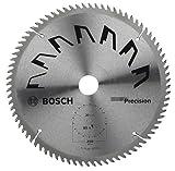 Bosch 2609256882 - Lama di precisione per sega circolare, 80 denti, carburo, taglio netto, diametro 250 mm alesaggio con anello di riduzione, 30, larghezza di taglio 3,2 mm