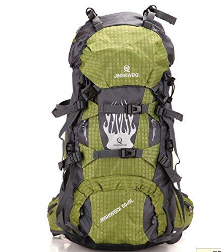Imperméable à l'eau de sacs à dos sac à dos sport outdoor paquet pour hommes et femmes 60L double sac à bandoulière , yellow