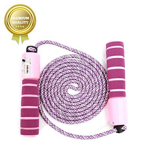 Springseil Speed Rope,springseil Boxen,springseil Sport Kinder,Springseil Kinder Speed Rope mit Zähler,Springseil Sport,Verstellbares Speed Rope Seilspringen! (Lila-1)