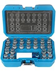 MRCARTOOL - Juego de extractores de tuercas antirrobo de rueda con adaptador, 23unidades