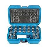 beley 23pcs wheel lock lug nut remover kit, automotive wheel anti-theft screw removal key socket