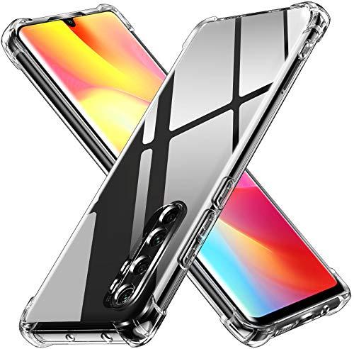 ivoler Klar Silikon Hülle für Xiaomi Mi Note 10 Lite mit Stoßfest Schutzecken, Dünne Weiche Transparent Schutzhülle Flexible TPU Durchsichtige Handyhülle Kratzfest Case Cover