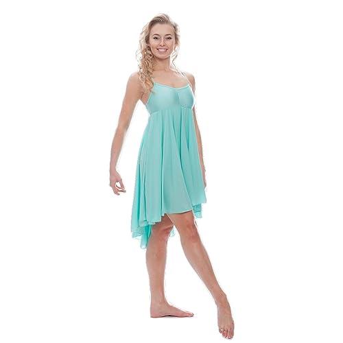 fe9d53a7d527 Katz Dancewear Ladies Girls Lyrical Dress Contemporary Ballet Modern Dance  Ballroom Costume