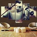 Cuadros de pared de casete para sala de estar Rollos de película fotográfica antigua Arte de la pared Impresiones en...