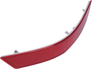 MAGT 1 Pair ABS Shell and PC Lens Bumper Reflector Red Waterproof Left and Right Rear Side Bumper Reflector Compatible for BMW 5 Series E60 Rear Bumper Reflector