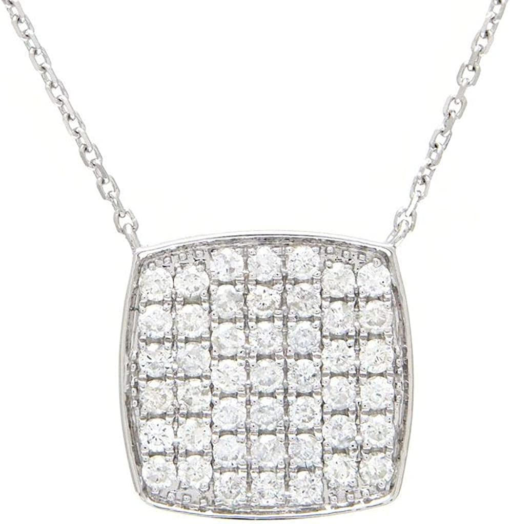 14k White Gold Cushion Round Cut dwt Diamond Popular popular Luxury 0.50 Micro Pave Set