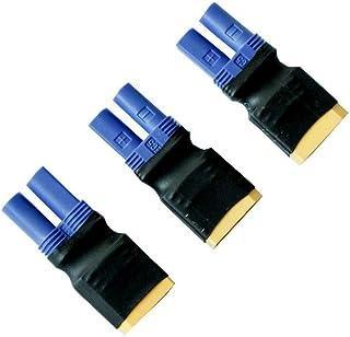 Lipo Battery Adapter,KCRTEK 3PCS XT90 Male to Female EC5 Adapter No Wires RC LiPo Battery Connectors