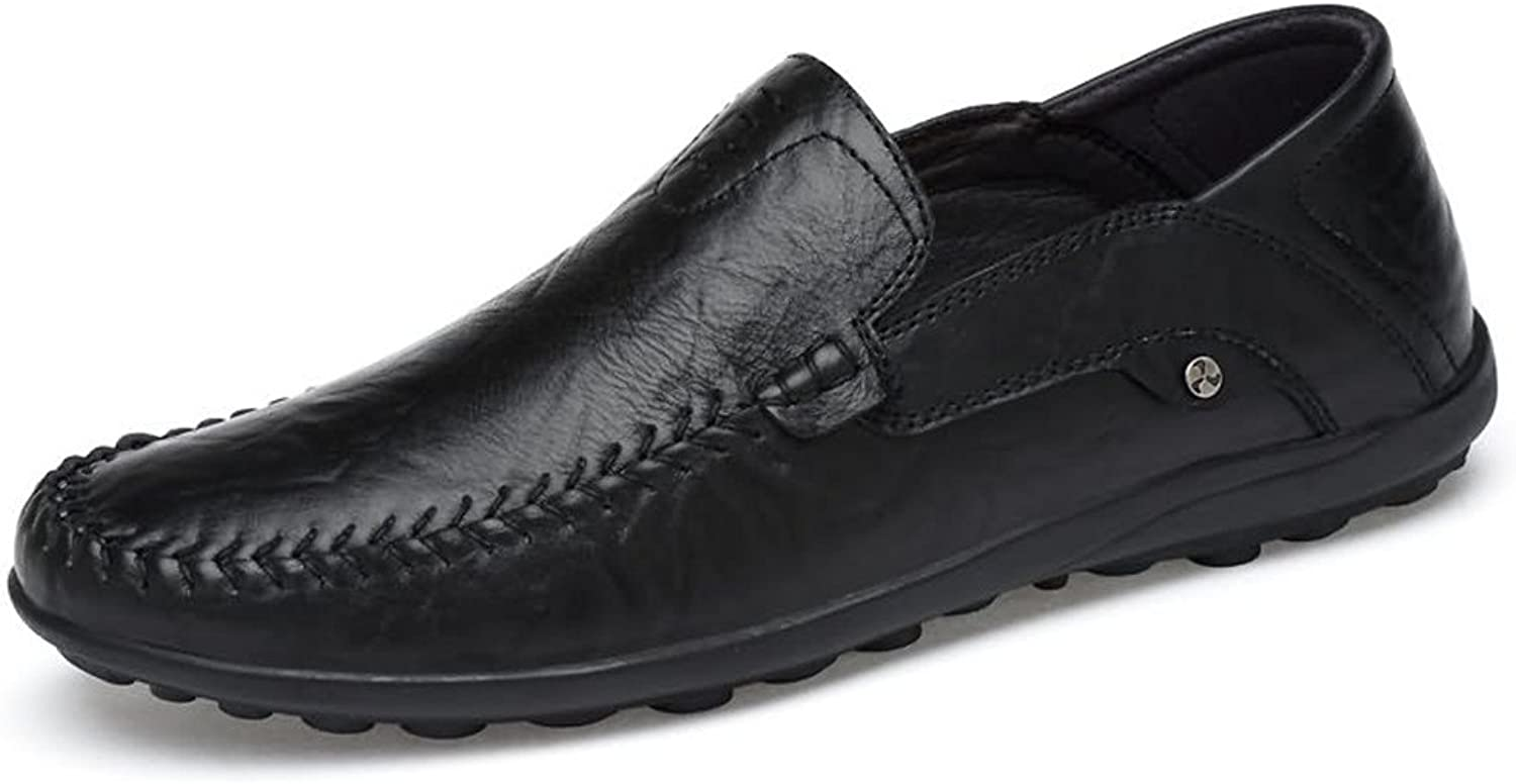 SRY-shoes Men's Comfortable Moccasins Leather Hollywood Driving Style Loafer