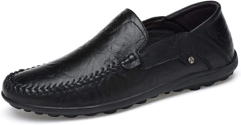 JIALUN-Schuhe Komfortable Herren Mokassins aus Leder im Hollywood-Stil (Farbe   Schwarz, Größe   38 EU)