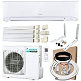 DAIKIN 18,000 BTU 17 SEER Wall-Mounted Ductless Mini-Split A/C Heat Pump System with 15-ft Installation Kit and Wall Bracket 220V
