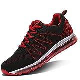 Zapatillas de Running Hombre Calzados para Correr en Asfalto Deporte Sport Casual Sneakers 4 Rojo 43 EU