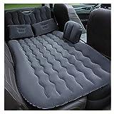 ADHW Auto Aufblasbare Bett, Rücksitz Tragbare Auto Camping Boden Reise Matratze Luftbett Kissen mit Rückenstütze Passt Universal Auto SUV (Color : Black)