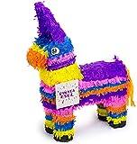Trendario Pinata Esel, Piñata für Kindergeburtstag Spiel, ideal als Geschenkidee zur Party oder Hochzeit, 57x37 cm