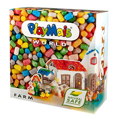 PlayMais World Farm Jeu de Construction pour Enfants à partir de 5 Ans | 1000 pièces, modèles et Mode d'emploi | stimule la créativité et la motricité | Cadeau pour Filles et garçons