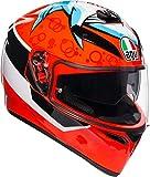 AGV K3 SV Attack Casco De Moto De Cara Completa Tamano S