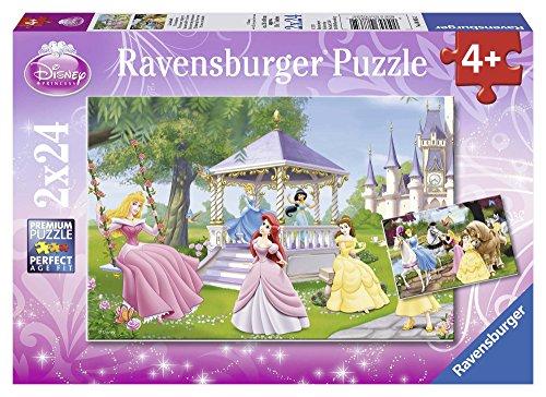 Ravensburger 88652 Puzzel Disney Princess Betoverende Prinsessen - Twee Puzzels - 24 Stukjes - Kinderpuzzel