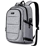 Anti-Theft Laptop Backpack,15.6-17.3 Inch Business Travel Backpack Bag with Lock with USB Charging & Headphone Port, Water Resistant College School Computer Rucksack Work Backpack for Mens Womens