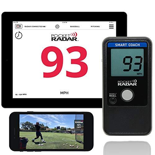 Pocket Radar Smart Coach/Bluetooth App Enabled Radar Gun Allows Remote Display and Speed in Video