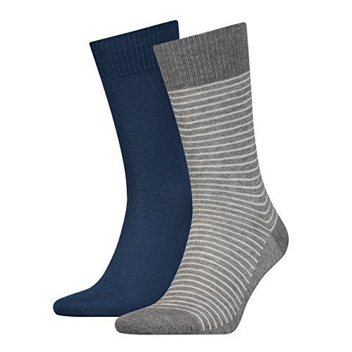 Levis® Herren Socken Regular Cut Stripe 168SF 4er Pack, Größe:43-46, Farbe:Ensign Blue (188)