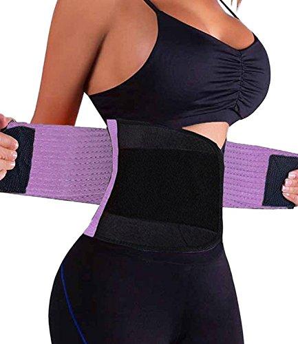 FeelinGirl Waist Trimmer Ab Belt for Men and Women, Weight Loss, Melt Cellulite, Trim and Shape Waist XXL Purple