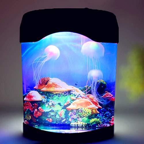 ABTSICA Lámpara de Lava de Medusas LED, USB eléctrico Artificial Tanque de...