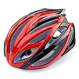 L.W.SURL Casco per Moto Bike Helmet Casco da Bicicletta for la Protezione Uomo Donna Stampato integralmente Sport Esterno di Sicurezza Capo Elmetti (Color : Red, Size : Free)