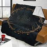Xiodong - Manta de cama con anillos de señor, ultrasuave y cálida franela para todas las...