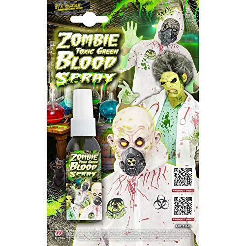 Widmann ? Spray Sang Zombie unisex-adult, vert, 48 ml, vd-wdm01140