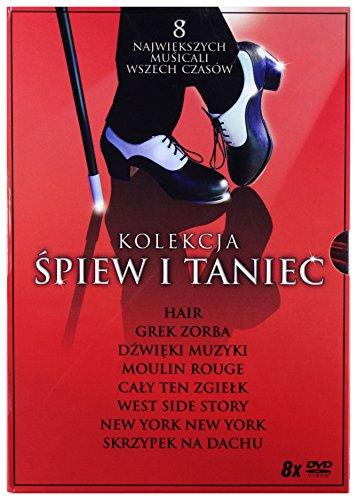 Kolekcja Śpiew i Taniec: West Side Story / Grek Zorba / Dźwięki muzyki / Skrzypek na dachu / New York, New York / Hair / Cały ten zgiełk / Moulin Rouge! BOX [8DVD] (Keine deutsche Version)