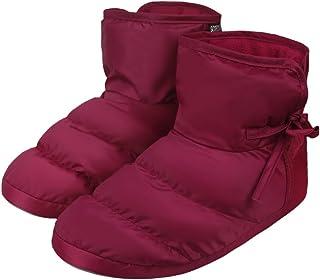 Mannen Vrouwen Dikke Gewatteerde Donzen Slippers Zachte Gezellige Pluche Voering Winter Warme Vloer Sokken Enkellaarzen Wa...