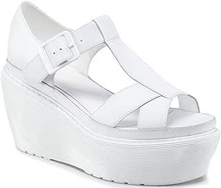 Dr. Martens Women`s Adaya Platform Cross Strap Sandal Softy T