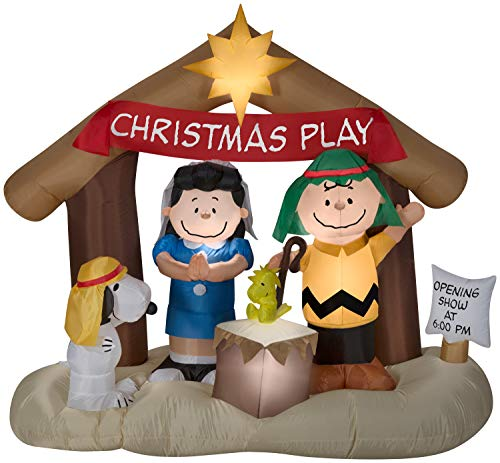 Peanuts Nativity Scene Christmas Inflatable