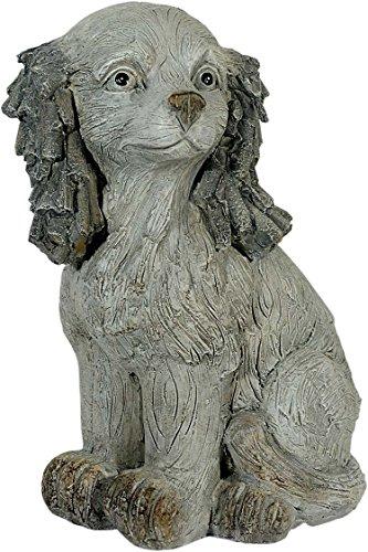 Figure de jardin chien avec d'optique de pierre