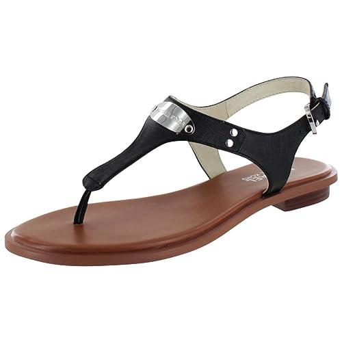 7899e7571f9f Michael Michael Kors Womens Plate Thong Open Toe Casual Slide Sandals