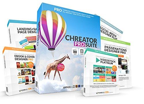 CHREATOR - all in one Designsuite für Webdesign, Grafik, Social Media, Video, Banner, Layouts uvm. Ultimate Edition für kommerzielle Projekte. Mehr als 26.000 Designelemente inkl. Stockphoto deluxe, Landingpage Designer, Infografik Designer, Ebook Designer Plus.