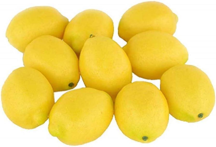Sohapy Surprise price 10pcs Yellow Artificial Lifelike Cheap SALE Start Simulation Fake Fr Lemon