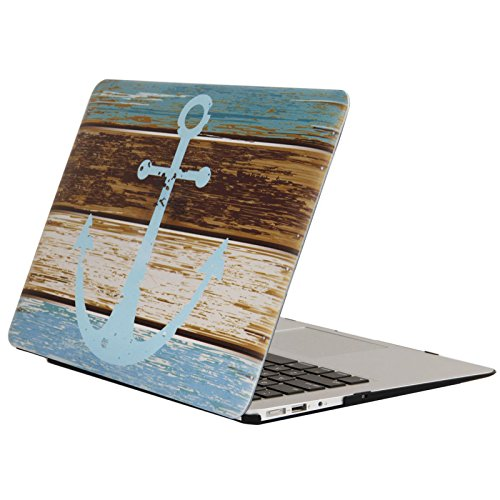 YMIX Plastic Cover Snap on Hard Protective Case for MacBook Air 13'(A1466 & A1369) , 01 Anchor