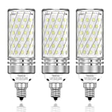 TSOCO E12 LED Bulbs,16W LED Chandelier Light Bulbs,120 Watt Equivalent,6000K Daylight White,1400LM,Non-Dimmable Ceiling Fan Light Bulbs,Pack of 3 (Daylight-16w)