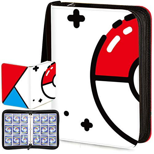 Trading Card Binder with Sleeves,900 Pockets Zipper Binder Card Holder Collectors Album Carrying Case with 50 Platinum 18-Pocket Sheets for TCG Baseball and Football Cards Organizer
