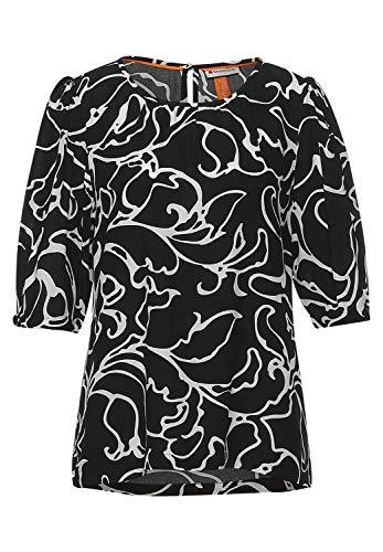 Street One Damen 342550 Bluse, Black, 38