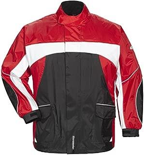 TOURMASTER ELITE 3 RAIN MOTORCYCLE JACKET BK/RD/WH SIZE:XXS