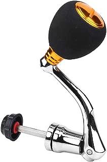 Tbest Fishing Reel Handle,Fishing Spinning Reel Handle Metal Rocker Arm Reel Replacement Power Handle Grip (M-Gold)