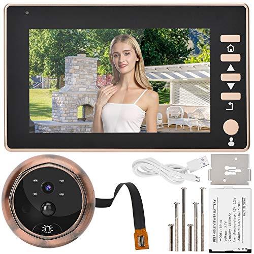 Pomya Digitale Türspion-Türklingel, IR-Nachtsicht-Mobilerkennung, 4,5-Zoll-HD-Bildschirm, 170-Grad-Weitwinkelspion, Video-Türklingel für Kameraaufzeichnung